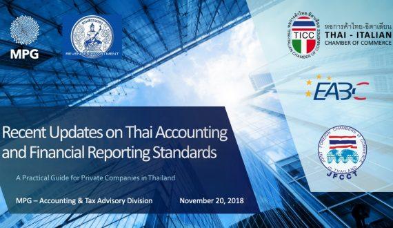 Neuste Aktualisierungen der thailändischen Buchhaltungs- und Finanzberichtsstandards