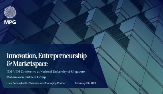 The Fourth International UEM-IEM Conference on Innovation, Entrepreneurship and Marketspace at the National University of Singapore Society