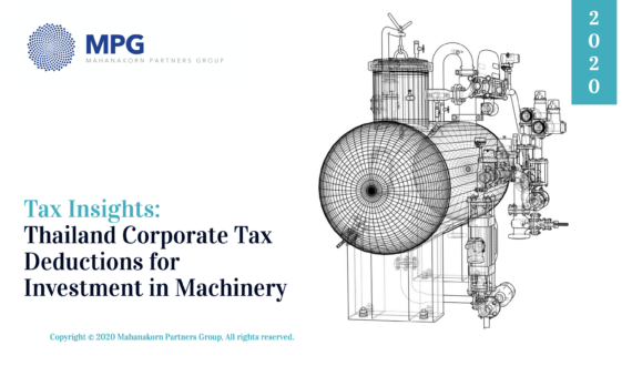 Tax Insights: Thailand Corporate Tax Deductions for Investment in Machinery