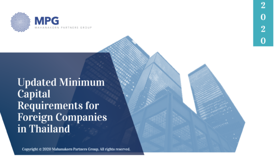 MPG Updated Minimum Capital Requirements for Foreign Companies in Thailand